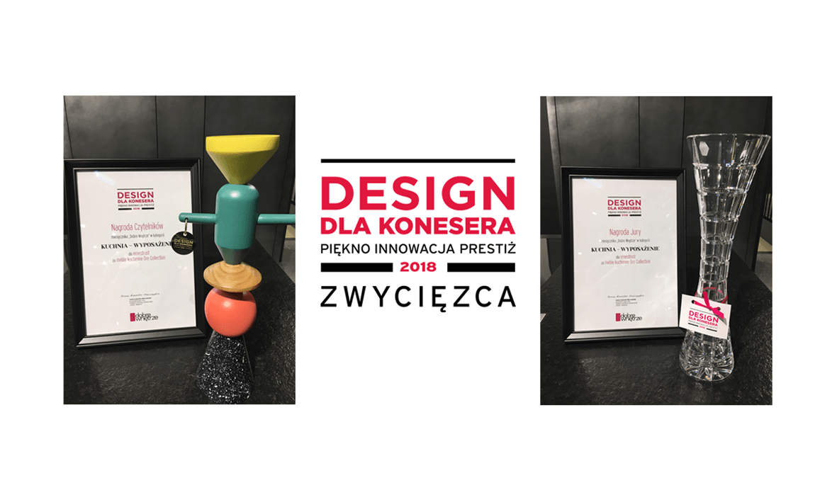 The great success of ernestrust brand and its spectacular Ore Collection at this year's Design dla Konesera (Design for the Connoisseur) contest