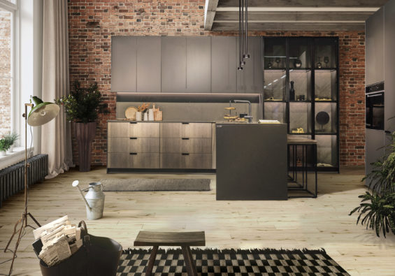 brown kitchen